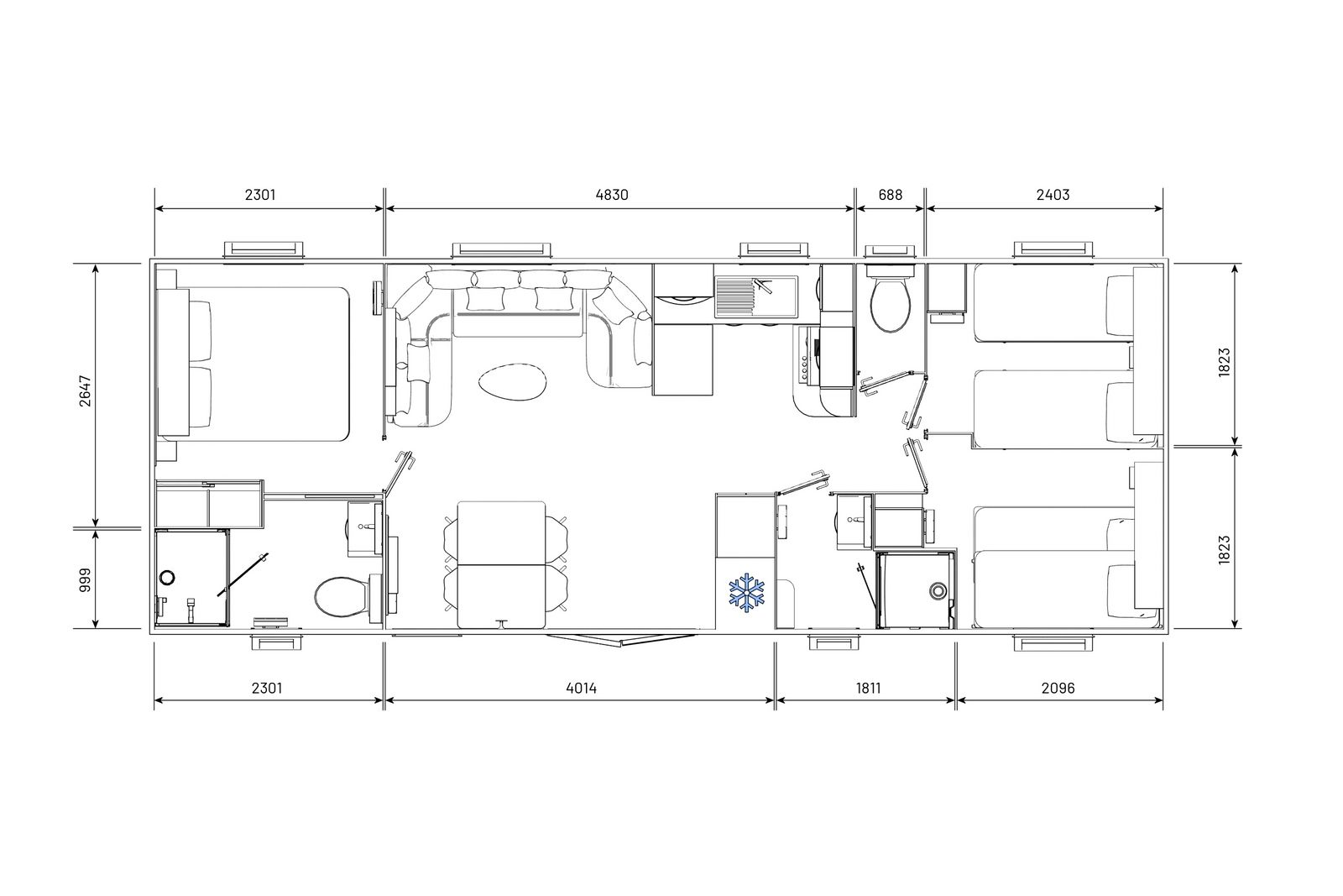 residences trigano-passion-3chambres-2sdb-plan-2D