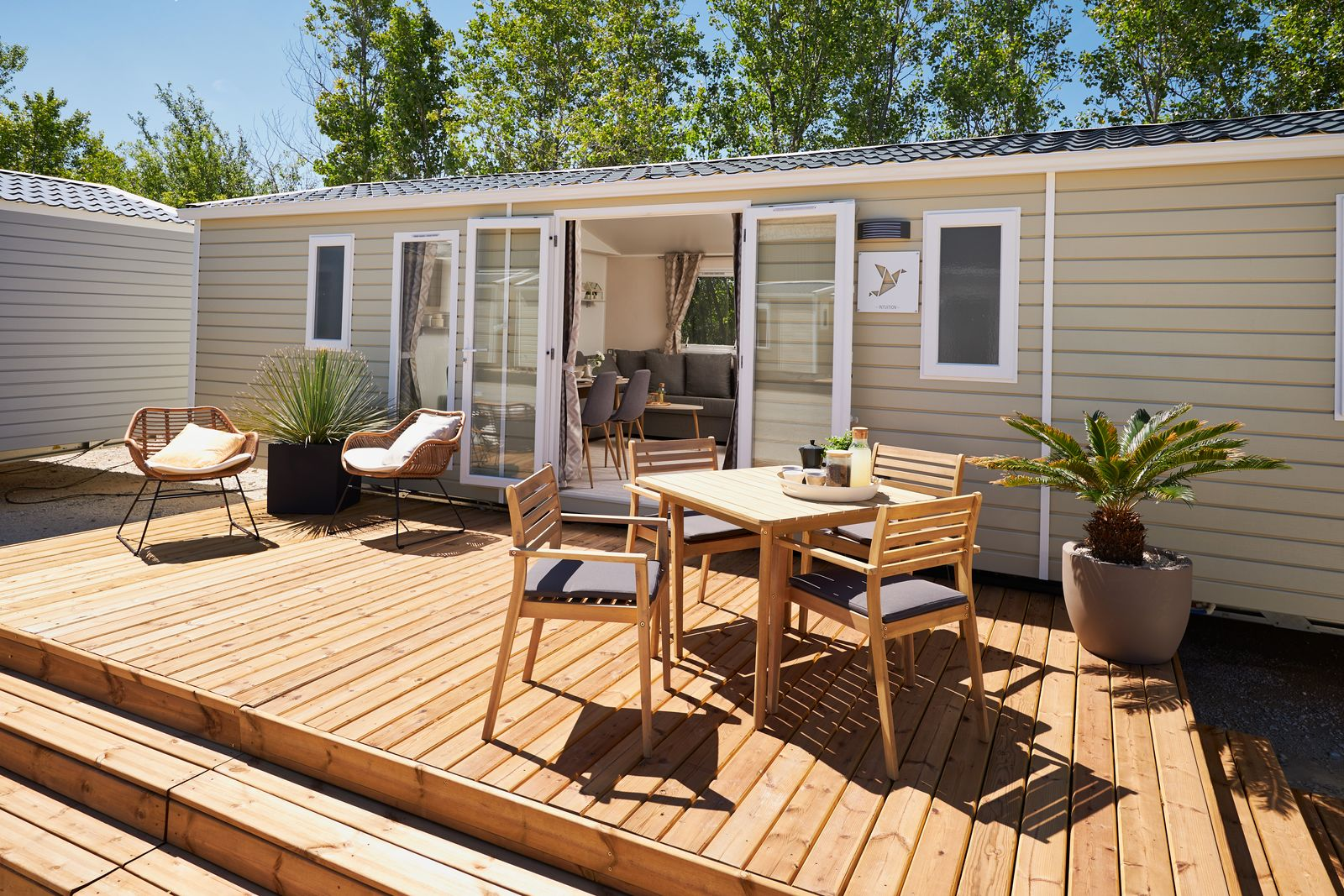 residences trigano terrasse pour mobil-home